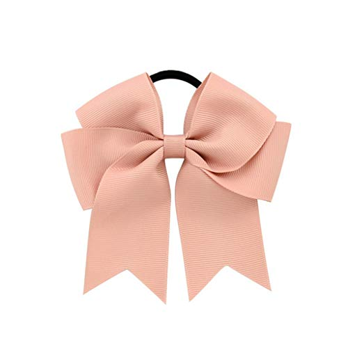 Actuallyhome Solid Grosgrain Ribbon Bow Women Elastic Hair Bands Bowknot with Rubber Rope Hairbands Headdress (16,-) -