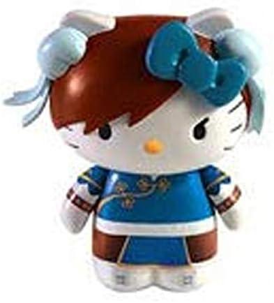 Hello Kitty Street Fighter Guile Figure Keychain NEW Toys Toynami Keyring