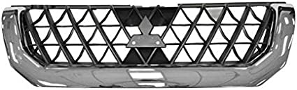MR607481 Plastic MI1200226 For Mitsubishi Montero Sport Grille Assembly 2000 2001 Painted Black Shell and Insert