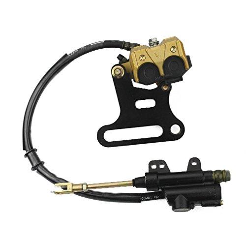 GOOFIT Rear Hydraulic Caliper Brake Master Cylinder Assembly for 70cc 110cc 125cc 150cc ATV Quad: