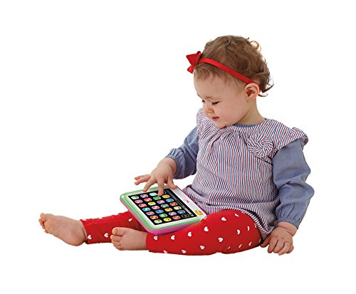 41AAHh8iLrL - Fisher-Price Laugh & Learn Smart Stages Tablet, Pink