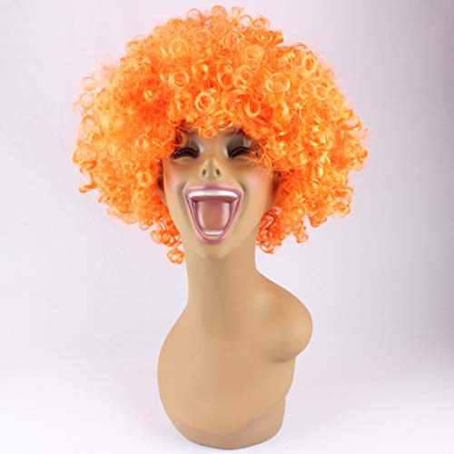 Riyang Unisex Fans Wig Afro Curly Short Hair Synthetic 150G/PCS -