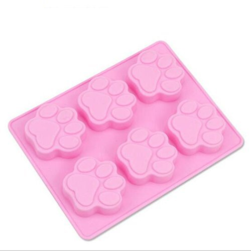 (Multifunction Dog Paw print silicone mold for baking freezing molds cake mold candy molds soap mold)