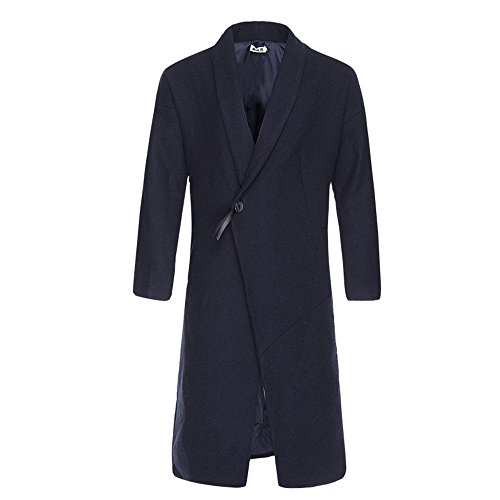 L de Azul el Slim invierno macho paño lana invierno abrigo de China largo y abrigo de El otoño viento chaqueta Hqw6naUE