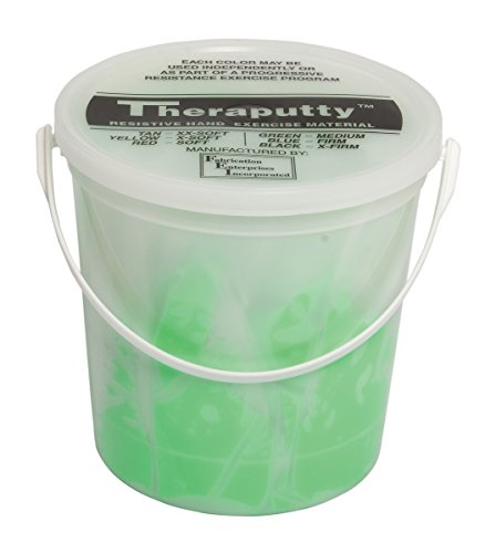 CanDo TheraPutty Plus Anti-microbial, Green: Medium, 5 lb by Theraputty