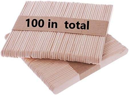 Bochang Kaishuai- Madera para Helados, para Manualidades Bricolaje,Madera Manualidades,Materiales para Manualidades.Kit de 100 Palitos de
