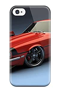 Rugged Skin Case Cover For Iphone 4/4s Eco Friendly Packaging S Police Car