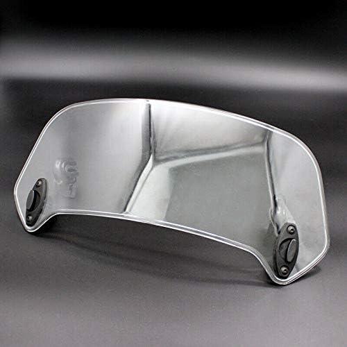 con Clip Regolabile sul Parabrezza Fltaheroo Deflettore Antivento per Moto Bianco