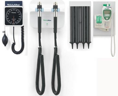 Welch Allyn 77710-TAKX Wall Transformer (77710), KleenSpec Dispenser (52400-Pf), Wall Aneroid (7670-01) and SureTemp Plus Thermometer (01690-300)
