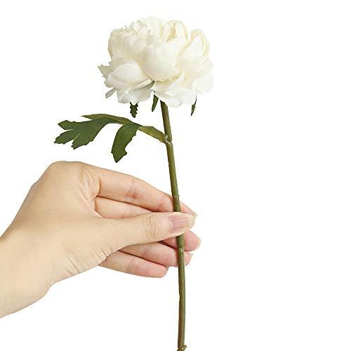 Sagton Artificial Fake Western Rose Flower Peony Bridal Bouquet Wedding Home Decor WHWhite