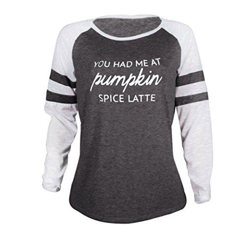 Muttertag Langarm Shirt Tops Size Thanksgiving Patchwork Plus T Damen Bluse Geschenk MRULIC Zum grau A YRqTET