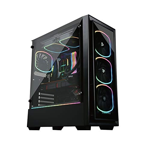 Enermax Starryfort SF30 Addressable RGB ARGB Mid Tower Gaming PC Case Tempered Glass Per-Installed A-RGB Fans (X4), ECA-SF30-M1BB-ARGB (Best Mid Range Gaming Pc 2019)