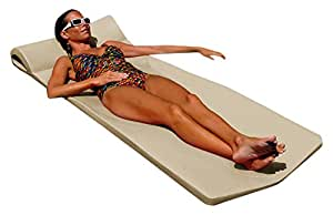"Texas Recreation Sunsation Swimming Foam Pool Floating Mattress, Bronze, 1.75"" Thick"