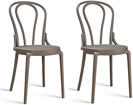 amazon com dining chair retro style round seat plastic garden chair rh amazon com