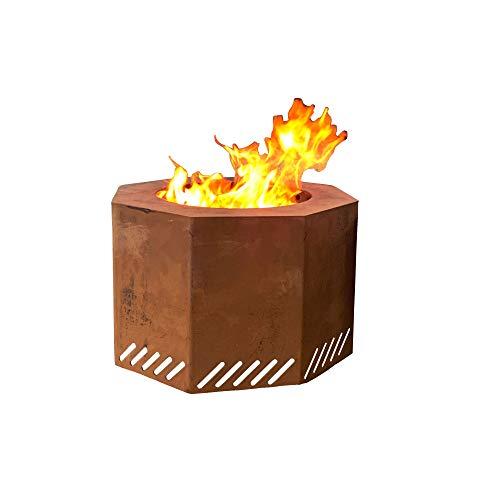 Titan Corten Steel Near Smokeless Wood Burning Backyard Fire Pit 16 in x 24 (Fires Smokeless)