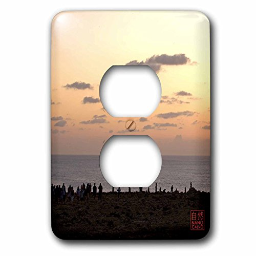 3dRose LLC lsp_107481_6 People Enjoying Sunset At Es Cap De Barbaria, Formentera, Spain 2 Plug Outlet Cover by 3dRose