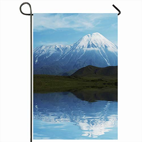 Ahawoso Garden Flag 12x18 Inches Trek Summit Volcano Tolbachik On Kamchatka Nature Mountain Parks Adventure Altitude Backpacked Decorative Seasonal Double Sided Home House Outdoor Yard Sign (Backpacked)