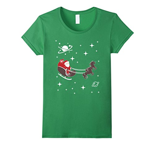 Santa Claus in Space w Unicorns Ugly Christmas Sweater Shirt