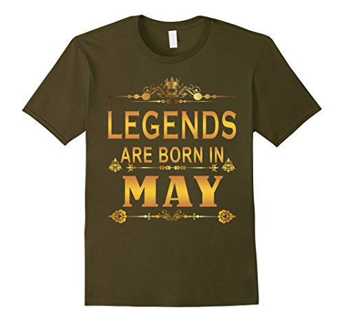 Mens Legends Are Born In May shirt XL (Born Green T-shirt)