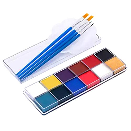 SUPVOX Halloween Body Painting Kit Professional Non Toxic Paint Palette for Party Body Art Drama Makeup Dance Cosplay -