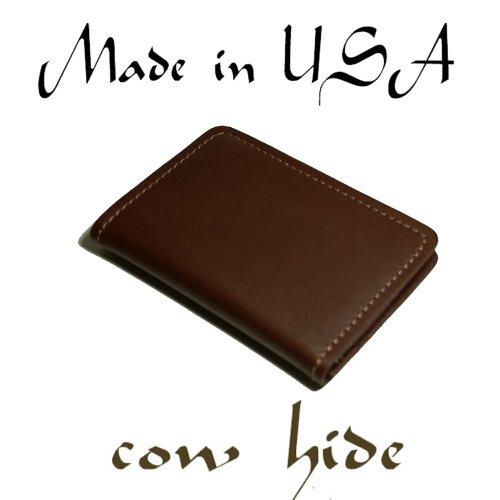 Northstar Genuine Cowhide Brown Leather Front Pocket Wall...