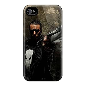 Protective Hard Phone Cases For Iphone 4/4s With Support Your Personal Customized High-definition Punisher Image TimeaJoyce