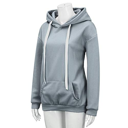 Sweatshirt Pritned Women Sleeve Gray Fashion Hoodie Solid Long Letter Ribbons Top xqZ8FCFw7n
