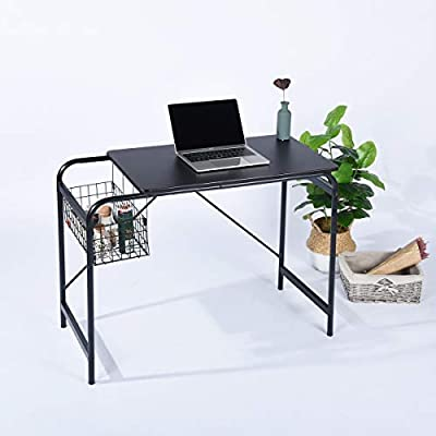 iHouse - Mesa de Escritorio para Oficina o casa, con Cesta de ...