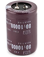 MISHITI 35x50mm 80V 10000uF Electrolytic Capacitor Filter Current Condenser for Audio Amplifier