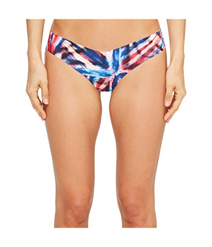 commando Women's Print Thong CT02 Red/Blue Tie-Dye Small