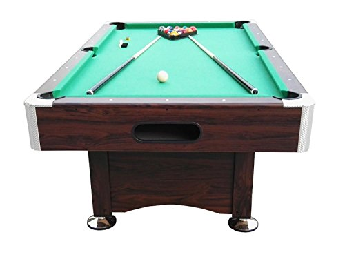 Pool Central B055-7FT Game Table, Brown/Green, 7' x 3.96' by Pool Central (Image #2)