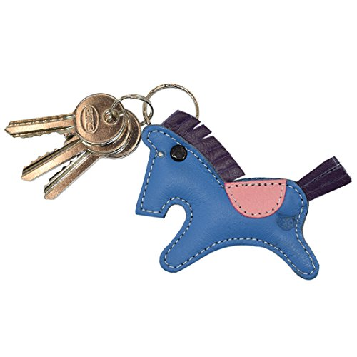 Critter Keychain Rustic Leather Animal Key Ring Holder Handmade by Hide & Drink :: Horse