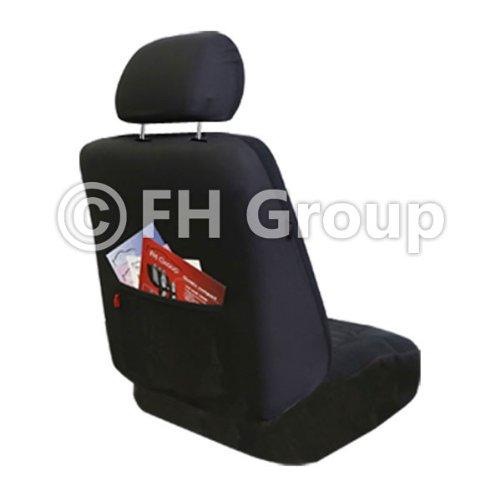 FH Group FB062BLACK115 Universal Car SUV Truck Van Seat Cover Premium Fabric 3D Air Mesh Airbag Compatible Black