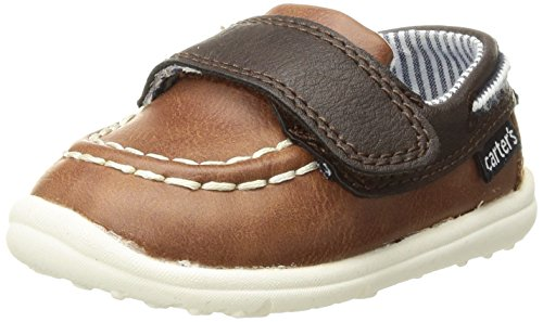 Carter's Every Step Boys' Jaden Boat Shoe, Brown, 4 M US Infant ()
