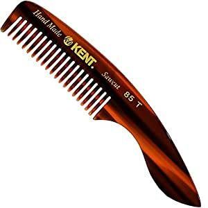 Kent 85T Pocket Comb Beard Comb for Mustache and Beard - Travel Kit Sized Beard Comb for Grooming/Beard Care - Wide Tooth Comb Mustache Comb Kent Comb for Mustache Kit Beard Grooming Styling Comb