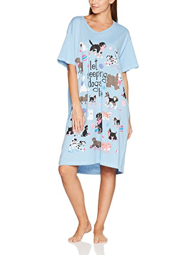 Little Blue House by Hatley Women's Cats and Dogs Sleepshirts, Let Sleeping Dogs Lie, One (Ladies Nightshirt)