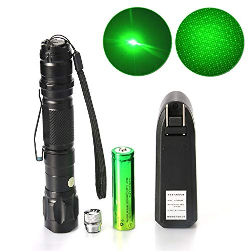 (1 Pack Green Light Pen Pointer and Star Projector Caps 2in1 Bright Visible Beam High Power Tactical Flashlights for Outdoor Camping Hiking Astronomy Demo Remote Pen Pointer Projector Cats and Dogs)