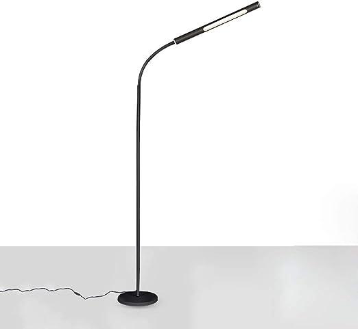 DGF Lámpara de pie moderna LED, luz de lectura de pie de