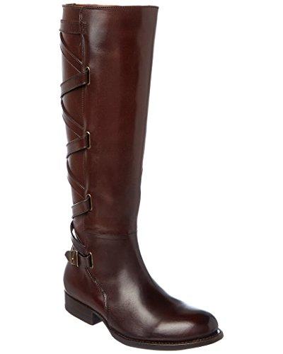 FRYE Women's Jordan Strappy Tall Riding Boot, Dark Brown, 8 M US by FRYE