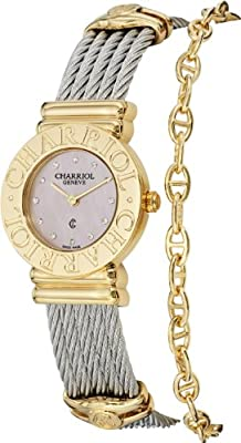 Charriol Women's St Tropez Pink Mother of Pearl Dial Quartz Watch 028C.540.462 from Charriol