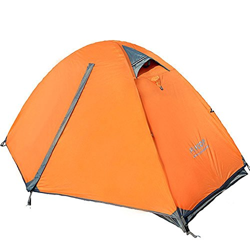 Flytop Lightweight Backpacking Single Person Tent 1-Person Tent For Camping Backpacking Mountaineering -Ultralight-Easy Setup/Waterproof Camping Tent / Great Storage Space (Orange)