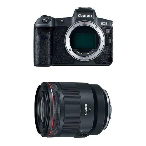 Canon EOS R Mirrorless Digital Camera (Body Only) and 50-50mm f/1.2-16 Fixed Prime SLR Camera Lens, Black