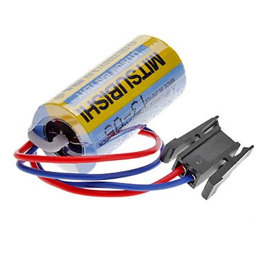 LUO Mitsubishi A6BAT ER17330V 3.6V 2000mAh Lithium Industrial Battery w/ Plug