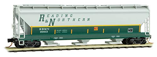 (Micro-Trains MTL N-Scale 3-Bay Covered Hopper Reading and Northern/RBMN #9963)