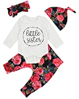 Newborn Baby Girls Clothes Little Sister Romper...
