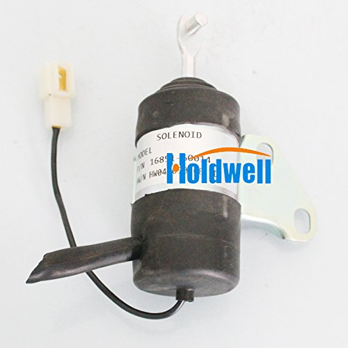 Holdwell Fuel Shut Off Solenoid 16851-60014 for Kubota BX2230D RTV900R RTV900T B7410D BX1500D BX1800D 12Vdc -  HWE0021