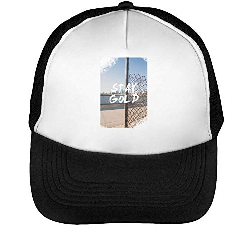Stay Gold Gorras Hombre Snapback Beisbol Negro Blanco