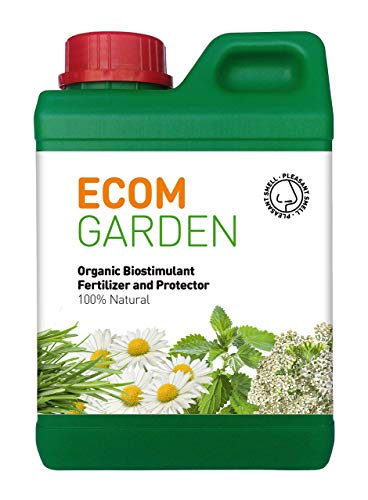 ECOM Garden Organic Fertilizer, Natural Plant Biostimulant and Protector for Indoor-Outdoor Plants,Vegetable, Flower, Bonsai, Orchid, and Herbs. Natural Growth Plants and pest Prevention. 1QT