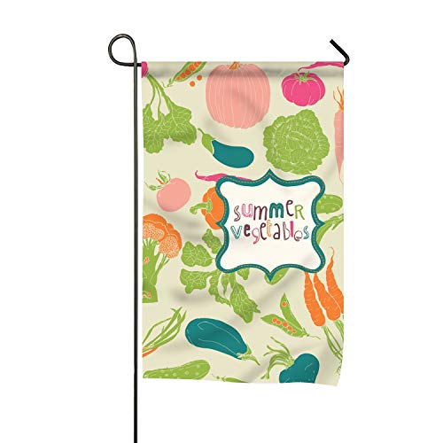 Niaocpwy Classic Food Vintage Wallpaper Garden Flag Double-Sided,