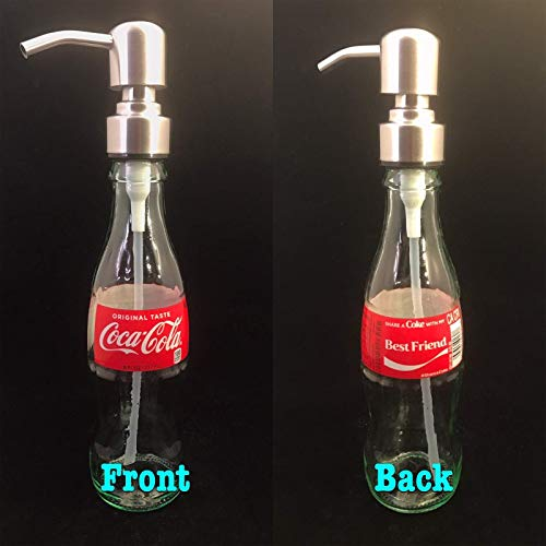 Glass Dispenser for Soap Lotion Repurposed Coca Cola Bottle 8 Oz BEST FRIEND ()